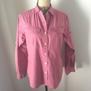 Buzz off shirt red Exofficio insect shield size S